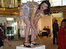 Nezaket Ekici, Fountain (Performance), Art Forum 2004